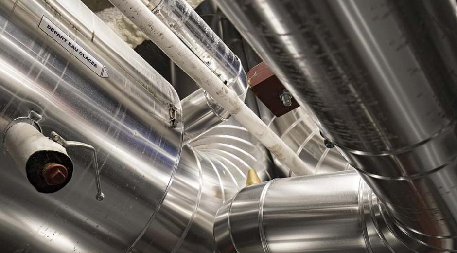 Pipes of an underground refrigeration system