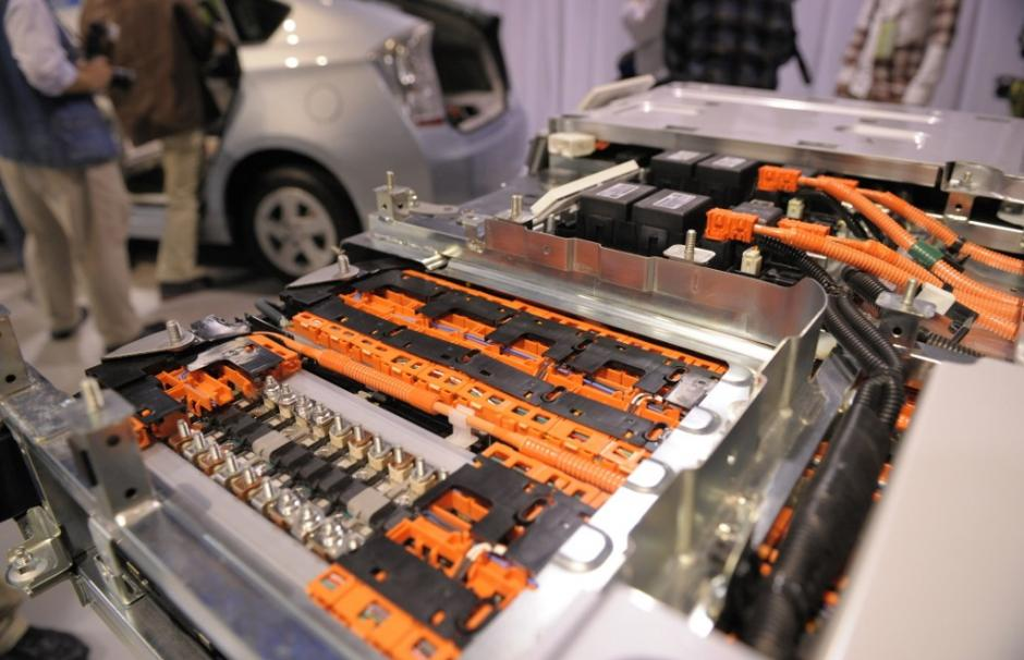 Image Of A Lithium Ion Battery From The Toyota Prius Hybrid Car
