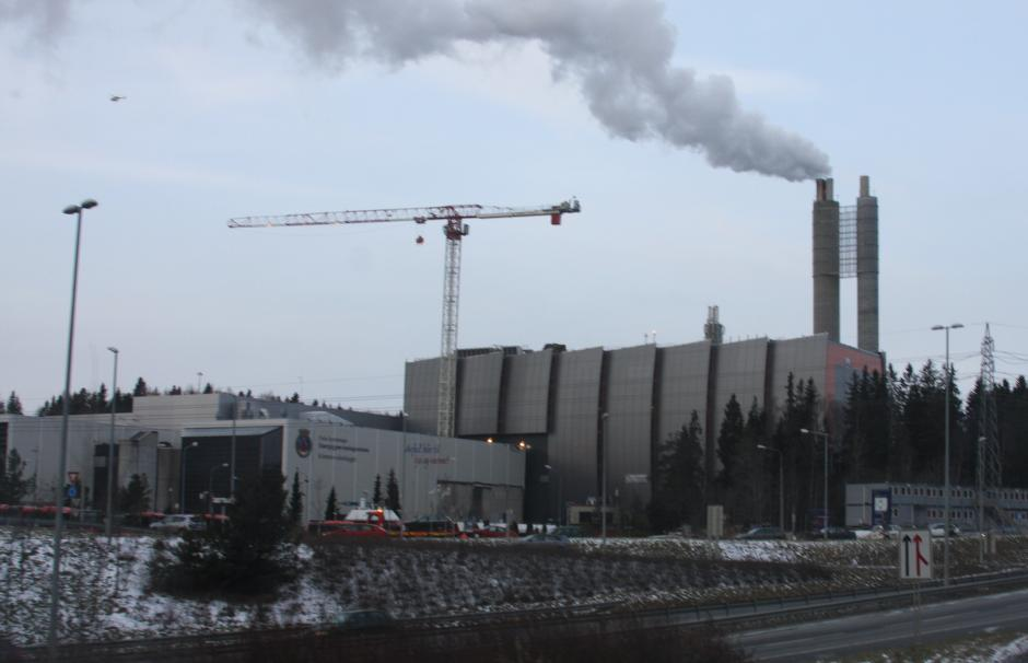 Image of a carbon reservoir being installed at one of energy group Vattenfall's factories in Germany.