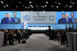 Photo of the COP24 opening ceremony in Katowice, Poland, in December 2018