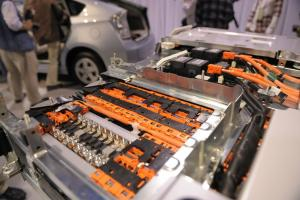 Image of a lithium-ion battery from the Toyota Prius hybrid car.