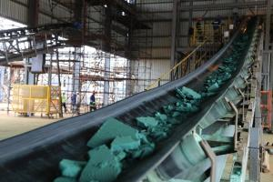 Image of a plant for the processing of cobalt, a rare metal, in Lubumbashi, Democratic Republic of the Congo.