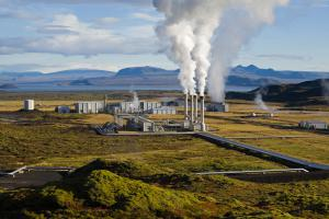 The geothermal power plant in Nesjavellir in Iceland