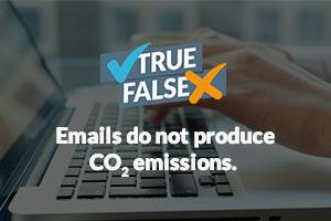 Emails do not produce CO2 emissions...