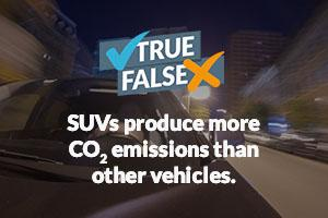 SUVs produce more CO2 emissions than other vehicles.
