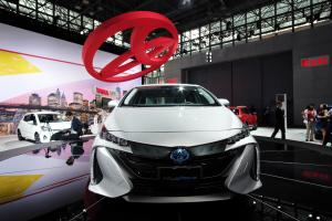 The Prius Prime, a plug-in hybrid model from Japanese car maker Toyota.